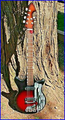 Vintage Teisco ET-201 Japanese Electric Guitar Works & Sounds Great