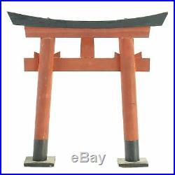 Vintage miniature Japanese Red & Black Gate 12 Shinto Shrine souvenir