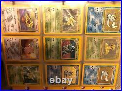 Vintage pokemon card lot base set/2/jungle/fossil/gym lots nm/ shadowless