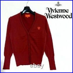 Vivienne Westwood Cardigan red M size Goods Vintage from japanese K9294