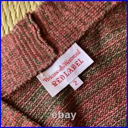 Vivienne Westwood cardigan Red M size Goods Vintage from japanese K9227