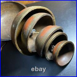Vtg Japanese Chinese Tibetan 6 Tiered Temple Bells Gongs Chimes Hanging Dragons