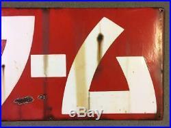 Wa-mu 45 cm Stop Itching Japanese Vintage Enamel Signboard Kanban Very Rare N1