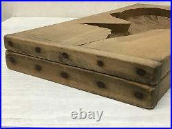 Y1941 KASHIGATA Red Snapper large Japanese vintage Wooden Pastry Mold wagashi