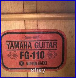 Yamaha FG-110 1970s Acoustic Guitar Japanese Vintage Red Label Rare Model