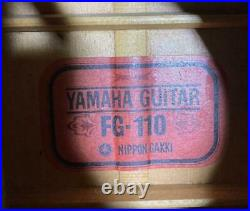 Yamaha FG-110 1970s Acoustic Guitar Japanese Vintage Red Label with Hard Case