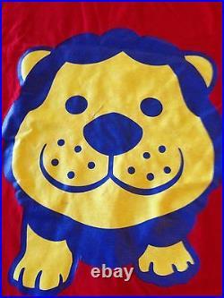 Yoshimoto Kogyo Taka Toshi RARE Lion t shirt Japanese Comedy duo RED L