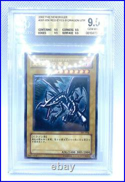 Yugioh Red Eyes Black Dragon BGS 9.5 Ultimate Rare 301-056 Vintage PSA